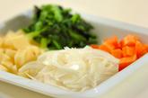 野菜のスープの下準備1