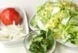 白菜のフレッシュサラダの下準備1