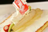 季節のフレッシュフルーツロールケーキの作り方9