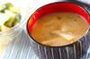 ジャガイモと油揚げの合わせみそ汁の作り方の手順