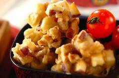 サツマイモとクルミの天ぷら