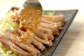 ピリ辛ゴマダレがけレンジ蒸し鶏の作り方3