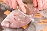 鯛ご飯の下準備1