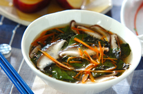 ザク切りモロヘイヤのスープ