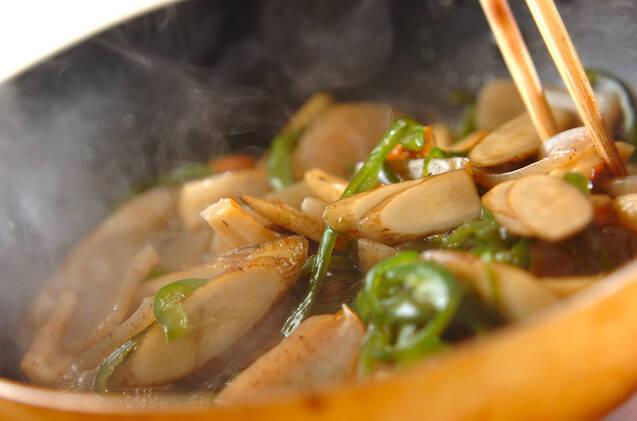 ゴボウと板コンの炒め煮の作り方の手順6
