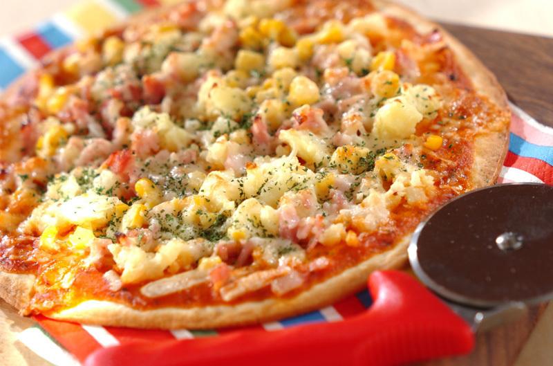 市販のピザクラストで手軽に作るピザ