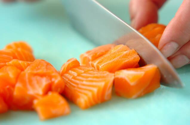 お刺身寿司夕食の作り方の手順1