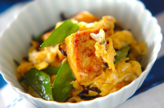 くらげと豆腐の卵炒め