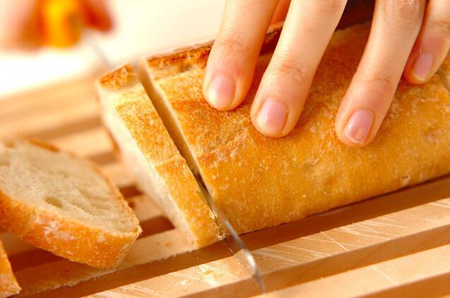 バゲットピザの作り方の手順1