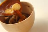 焼きナスとジュンサイの赤だしの作り方7