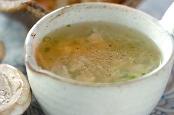 ジャガイモとホタテのスープ