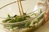 菊菜とエノキのゴマ和えの作り方の手順3