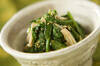 菊菜とエノキのゴマ和えの作り方の手順