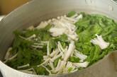 菊菜とエノキのゴマ和えの作り方2