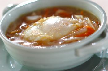 大根と落とし卵のスープ