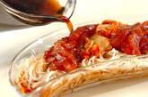 漬けマグロとキムチ素麺の作り方1