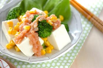豆腐のタラコドレッシング