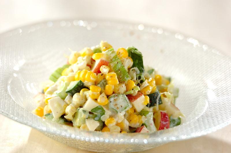 トウモロコシのヨーグルトサラダ