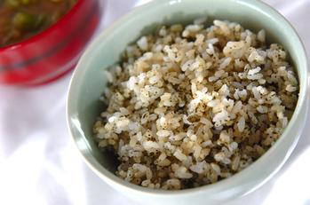 煎茶混ぜ発芽玄米ご飯