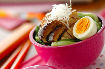 高野豆腐で豚角煮丼弁当