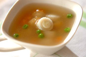 チーズ入りちくわのスープ