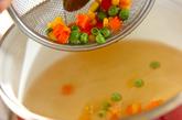 チーズ入りちくわのスープの作り方1