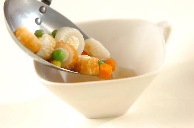 チーズ入りちくわのスープの作り方の手順4