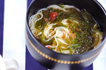 ひとくちめかぶ素麺