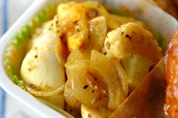 卵とカリフラワーのカレーサラダ