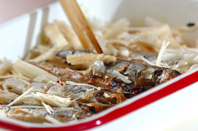 シシャモと玉ネギの南蛮漬けの作り方の手順6