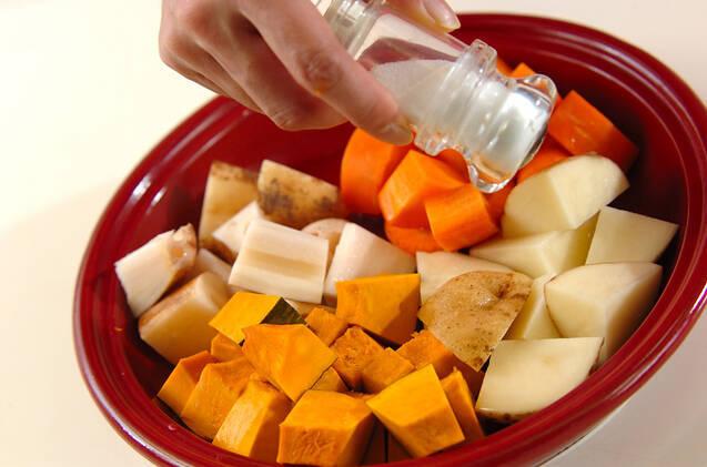 蒸し野菜とバーニャカウダの作り方の手順6