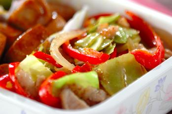 豚と野菜のペッパー炒め