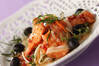 洋風揚げサーモンマリネの作り方の手順