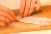 ニンニクの茎と豚肉香ばし焼きの作り方1