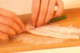 ニンニクの茎と豚肉香ばし焼きの作り方2