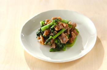 小松菜と豚の韓国風レンジ煮