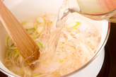 ワカメと鶏肉のスープの作り方1