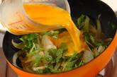 玉ネギの卵とじの作り方6