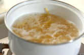 菜の花のタラコクリームパスタの作り方1