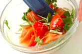 トマトとミツバの酢の物の作り方4