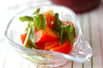 トマトとミツバの酢の物