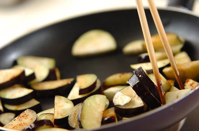 シイタケとナスのゴママヨ和えの作り方の手順5