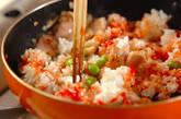 鶏と枝豆のケチャップライスの作り方2