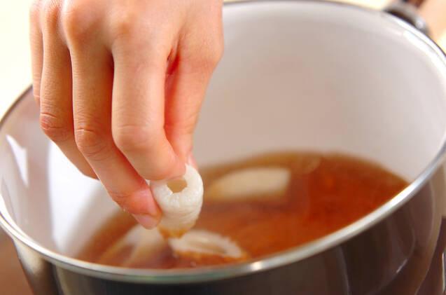 白菜とちくわの煮物の作り方の手順4