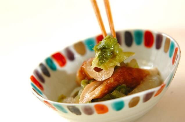 白菜とちくわの煮物の作り方の手順5