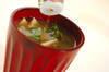 オクラと納豆のみそ汁の作り方の手順5