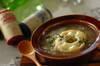 お麩でオニオングラタンスープ