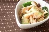 キノコの梅サラダ