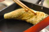 カニとミツバの卵焼きの作り方2