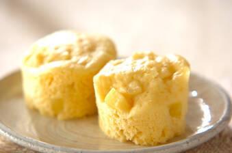サツマイモのレンジ蒸しパン